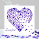Daughter Butterfly Card, Purple Daugther Heart Card