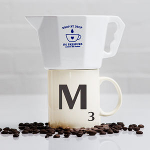 No Pressure Coffee Dripper And Scrabble Mug Gift