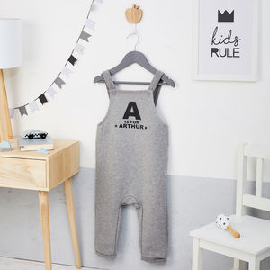 Children's Personalised Alphabet Name Dungarees - gifts for children