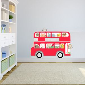 All Aboard Bus Fabric Wall Sticker - children's room