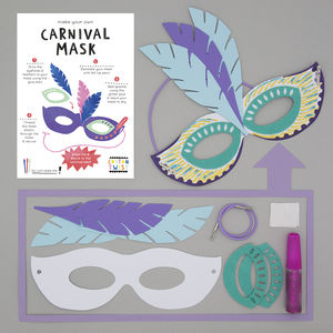 Make Your Own Carnival Mask Kit - wedding day activities