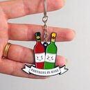 'Partners In Wine' Friendship Keyring