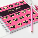 Bride To Be Notebook Animal Print Hearts
