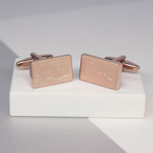 Personalised Engraved Zodiac Cufflinks - mens