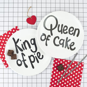 'King And Queen' Christmas Picnic Plate Gift Set