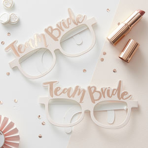 Rose Gold Team Bride Hen Party Funglasses