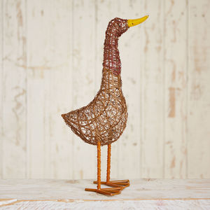Handmade Jiro Standing Duck - art & decorations
