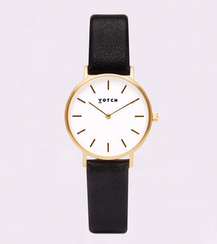 Petite Gold Vegan Leather Watch