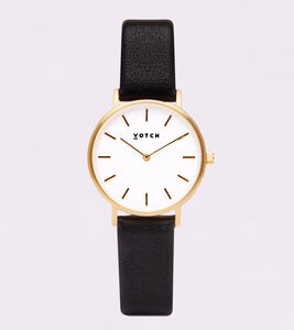 Petite Gold Vegan Leather Watch - men's accessories
