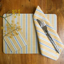 Ledbury Ochre Grey Set Of Four Placemats