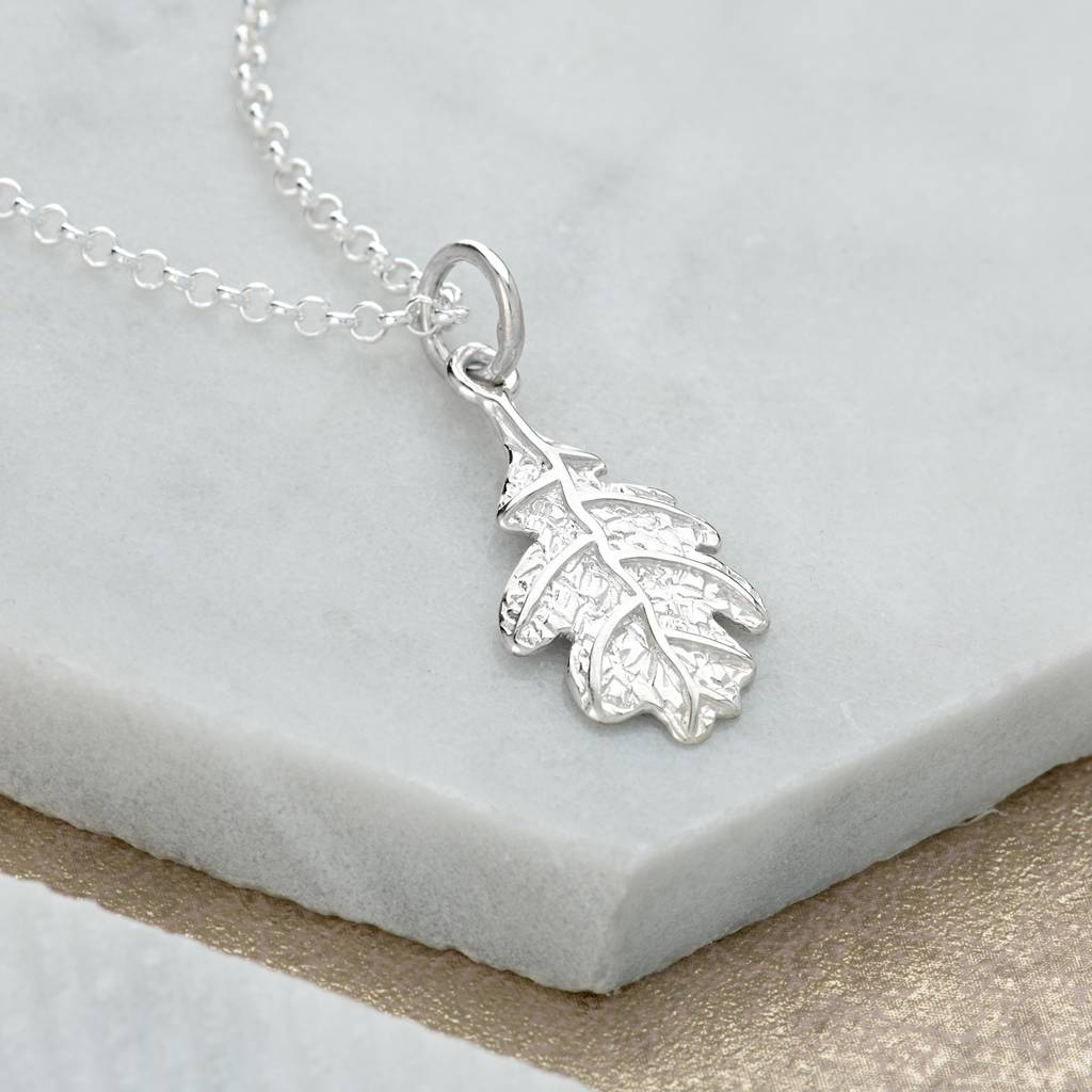 leaf silver or moon full maple with gold necklace plated