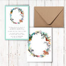 Pastel Wildlife Letter Invitations