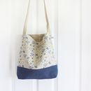 Natural Blue Parsley Day Bag