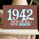 Birthday Year Card Vintage 1940s