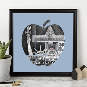 Personalised Big Apple Print - drawings & illustrations