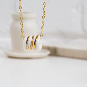 Porcelain And Gold 'Old Rope' Necklace - necklaces & pendants