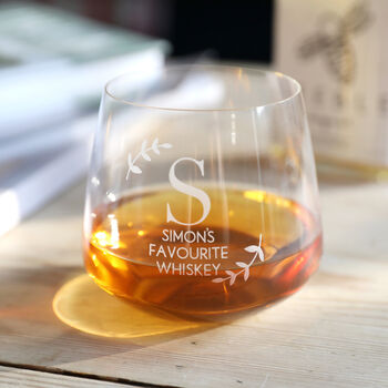 Personalised 'Favourite Whiskey' Glass