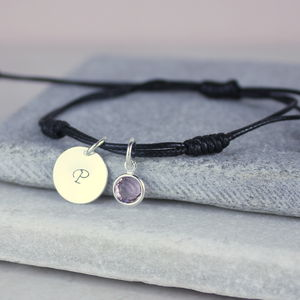 Personalised Birthstone Friendship Charm Bracelet