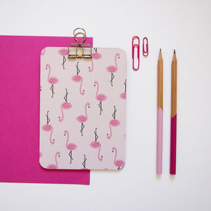 Mini Flamingo Clipboard