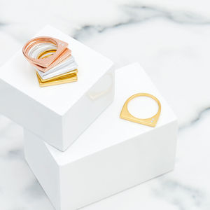 Gold Stacking Ring With Topaz Minerva Gem - jewellery