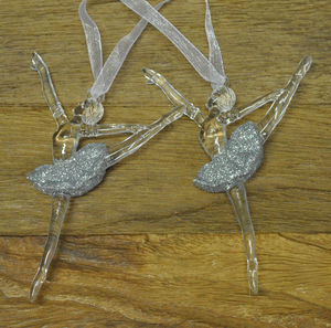 Duo Of Hanging Ballet Dancers - christmas decorations
