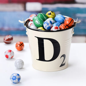 Letter Tile Style Chocolate Filled Bucket