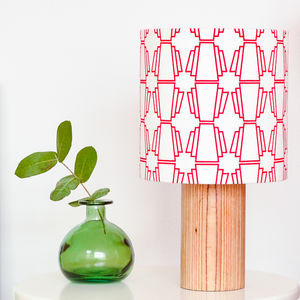 Red Geo Drum Lampshade