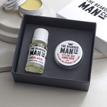 Boxed Gift Set Of 10ml Beard Oil And 15g Moustache Wax