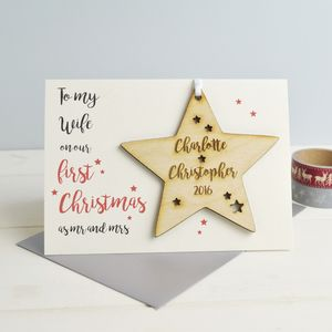 Personalised Wife's First Christmas Card - cards