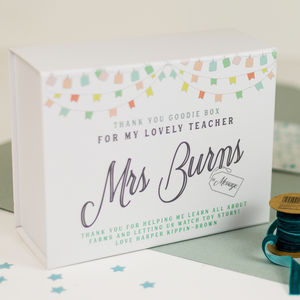 Personalised Teacher Gift Keepsake Box