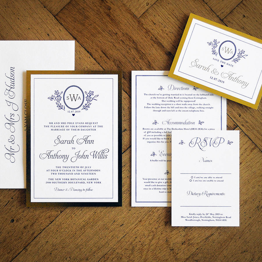 ascot gold foil wedding invitation by feel good wedding invitations ...