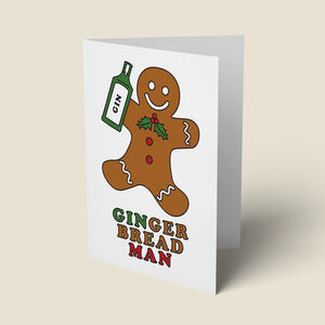 'Gingerbread Man' Funny Christmas Card