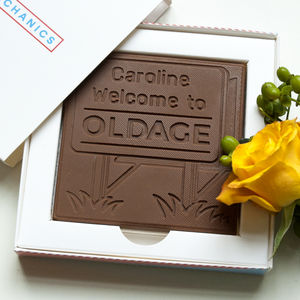 Personalised Happy Birthday 'Oldage' Chocolate Card