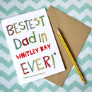 Personalised Best Dad Father's Day/Birthday Card