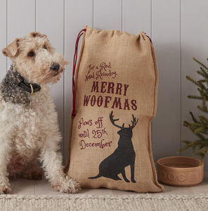 Dog Christmas Gift Sack - stockings & sacks