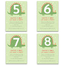 Personalised Dinosaur Children's Birthday Invitations