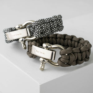 Mens Personalised Engraved Paracord Bracelet - bracelets