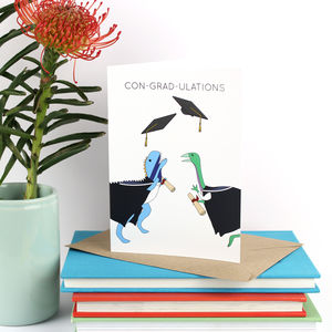 Dinosaur Graduation Greeting Card - graduation cards