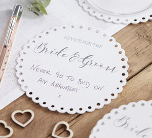 Advice For The Bride And Groom Wedding Coaster