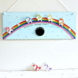 Personalised Unicorns And Rainbow Reward Chart - whatsnew