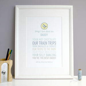 Personalised 'Things I Love About Dad Or Grandpa' Gift - gifts by budget