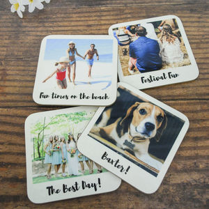 Personalised Retro Style Drinks Coasters - stocking fillers for him