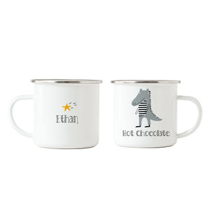 Crocodile Hot Chocolate Enamel Mug