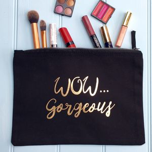 Black Make Up Bag - make-up & wash bags