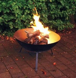Black Steel Fire Bowl
