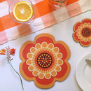 Flower Power Design Placemats And Coasters