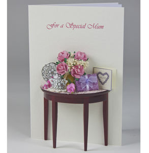 Personalised High Tea 3D Greetings Card - birthday cards