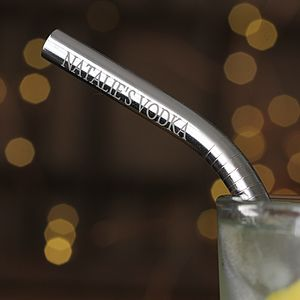 Eco Reusable Personalised Steel Straw Gift Set - secret santa gifts