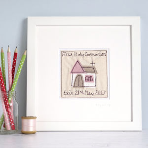Personalised First Holy Communion Picture - children's pictures & paintings