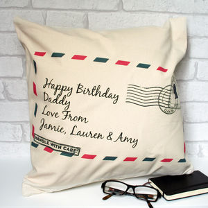 Personalised Cushion With 'Envelope' Design - living room